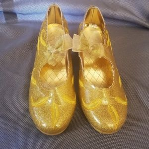 DISNEY BEAUTY AND THE BEAST shoes gold size 2/3